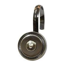 Shield 12 Piece Metal Modern Decorative Shower Hooks - Oil Rubbed Bronze