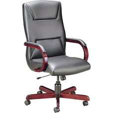 Quick Ship Quick Silver Executive Swivel Chair with Trapezoid Back Stitching