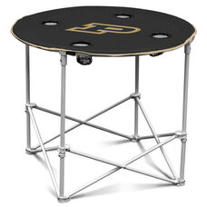 Purdue University Team Logo Round Folding Table