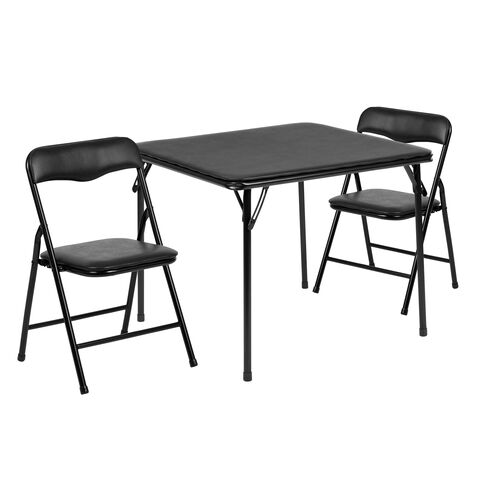 Our Kids Black 3 Piece Folding Table and Chair Set is on sale now.