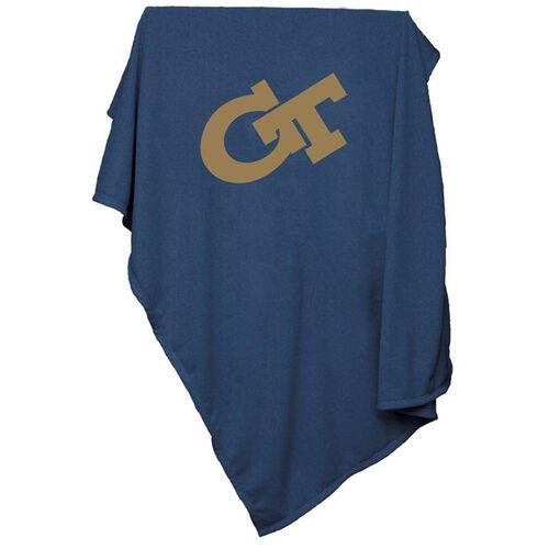 Georgia Tech Team Logo Sweatshirt Blanket