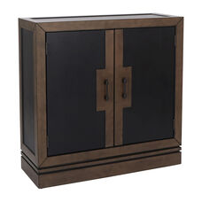 Inspired By Bassett Bergamo Storage Console in Coffee and Tan