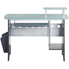 Techni Mobili Glass-Top Home Office Desk - Espresso