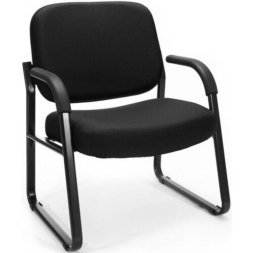 Our Big & Tall Guest and Reception Fabric Chair with Arms - Black is on sale now.