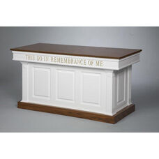 Red Oak Colonial Finish Closed Communion Table