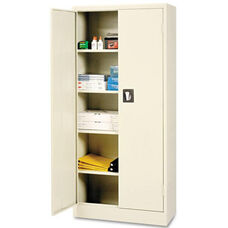 Alera® Space Saver Storage Cabinet - Four Shelves - 30w x 15d x 66h - Putty