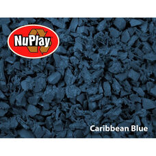 NuPlay Recycled Rubber Loose Fill Mulch - Caribbean Blue - 75 Cubic Feet