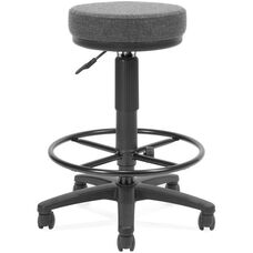 Adjustable Height UtiliStool with Stain Resistant Fabric and Drafting Kit - Dark Gray