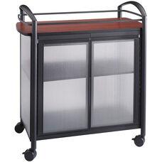 Impromptu® 34'' W x 21.25'' D x 36.5'' H Refreshment Cart - Black