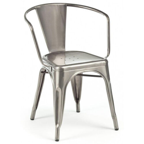 Our Dreux Clear Gunmetal Stackable Steel Dining Chair - Set of 4 is on sale now.