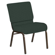 21''W Church Chair in Bonaire Orchard Fabric - Gold Vein Frame