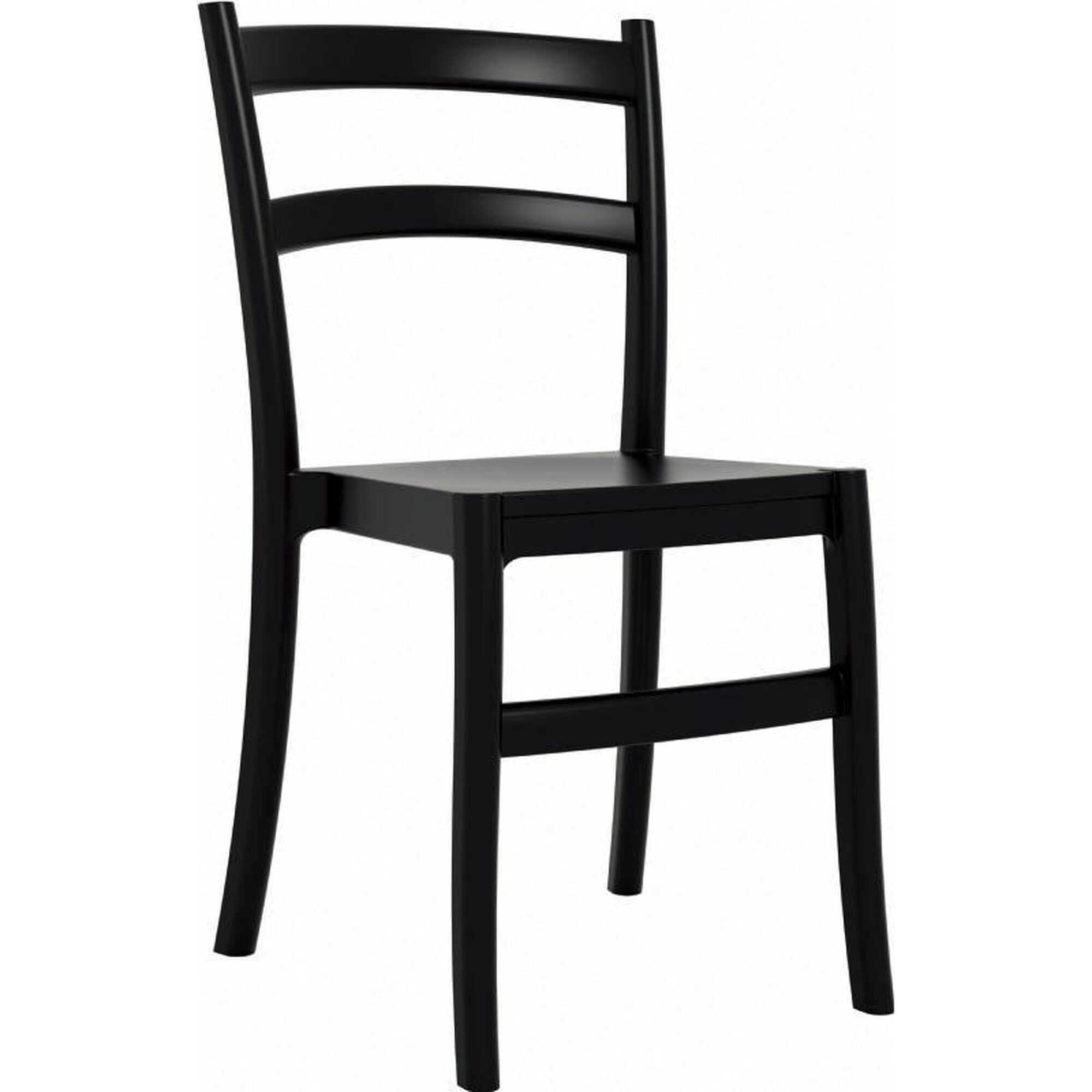 Stupendous Tiffany Outdoor Resin Cafe Style Stackable Dining Chair Black Cjindustries Chair Design For Home Cjindustriesco