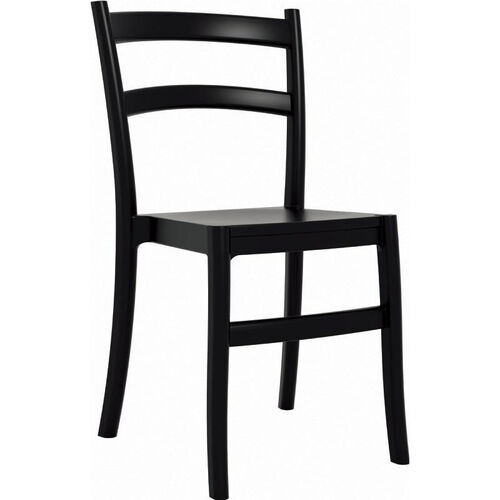 Our Tiffany Outdoor Resin Cafe Style Stackable Dining Chair - Black is on sale now.