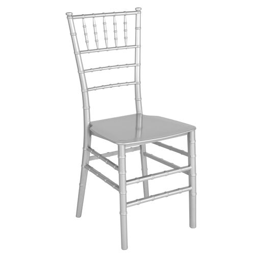 "Our HERCULES Series Silver Resin Stacking Chiavari Chair with <span style=""color:#0000CD;"">Free </span> Cushion is on sale now."