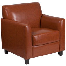 HERCULES Diplomat Series Cognac LeatherSoft Chair