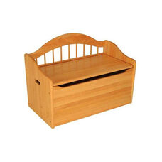 Limited Edition Childs Toy Box with Bench Seat and Flip-Top Lid - Honey