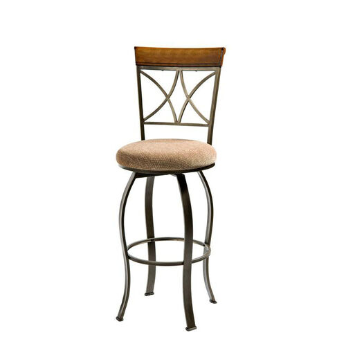 Our Hamilton Swivel Barstool - Brushed Medium Cherry with Diamond Pattern Taupe and Beige Fabric is on sale now.