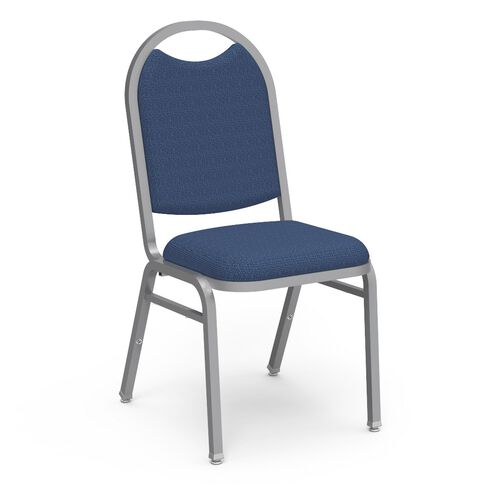 Our 8900 Series Stack Chair with Round Back and Dome Seat in Ultratexhyde Carib and Chrome Frame - 18