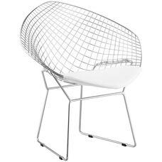 Net Chair with White Cushion
