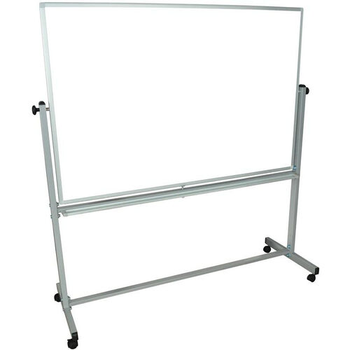 Our Doubled Sided Aluminum Frame Magnetic Mobile Whiteboard with Marker Tray - 60
