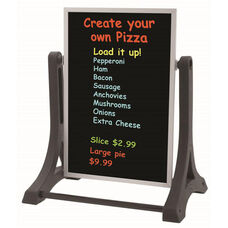 The Rocker Double Sided Sidewalk Sign with Black Neon Write-On Surface