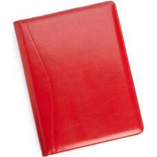 Writing Padfolio Document Organizer - Aristo Bonded Leather - Red