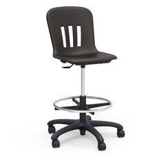 Metaphor Series Adjustable Height Lab Stool - Black- 24.13
