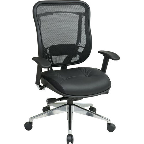 Our Space 818 Executive High Back Office Chair with Breathable Mesh Back and Leather Seat and 300 lb Weight Capacity is on sale now.