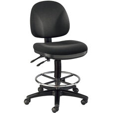 Prestige Height Adjustable Artists/Drafting Chair - Black
