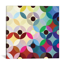 Mid Century Modern Art- Circular Motion by 5by5collective Gallery Wrapped Canvas Artwork