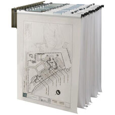 Wall Pivot Steel Rack for Blueprints