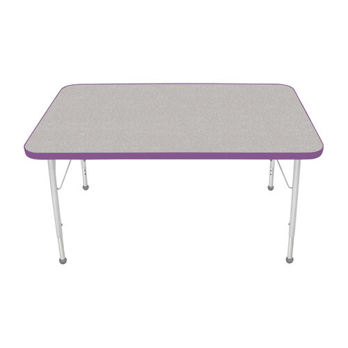 Adjustable Standard Height Laminate Top Rectangular Activity Table with Nebula Top - 30