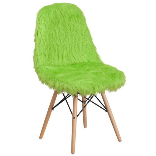 Our Shaggy Dog Fluorescent Green Accent Chair is on sale now.