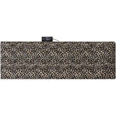 Relaxzen 10-Motor Massage Mat with Heat Removable Cover and Pillow - Leopard