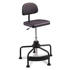 Safco® TaskMaster Series EconoMahogany Industrial Chair - Black