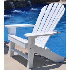 Seaside Recycled Plastic Adirondack Chair in White