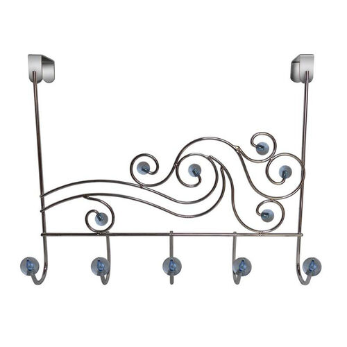 Our Phoenix Five Hook Over The Door Rack with Acrylic Ball - Transparent Blue is on sale now.