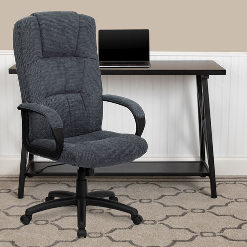 Our High Back Fabric Executive Swivel Office Chair with Arms is on sale now.