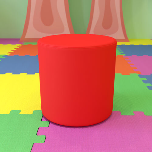 """Soft Seating Collaborative Circle for Classrooms and Common Spaces - 18"""" Seat Height (Red)"""