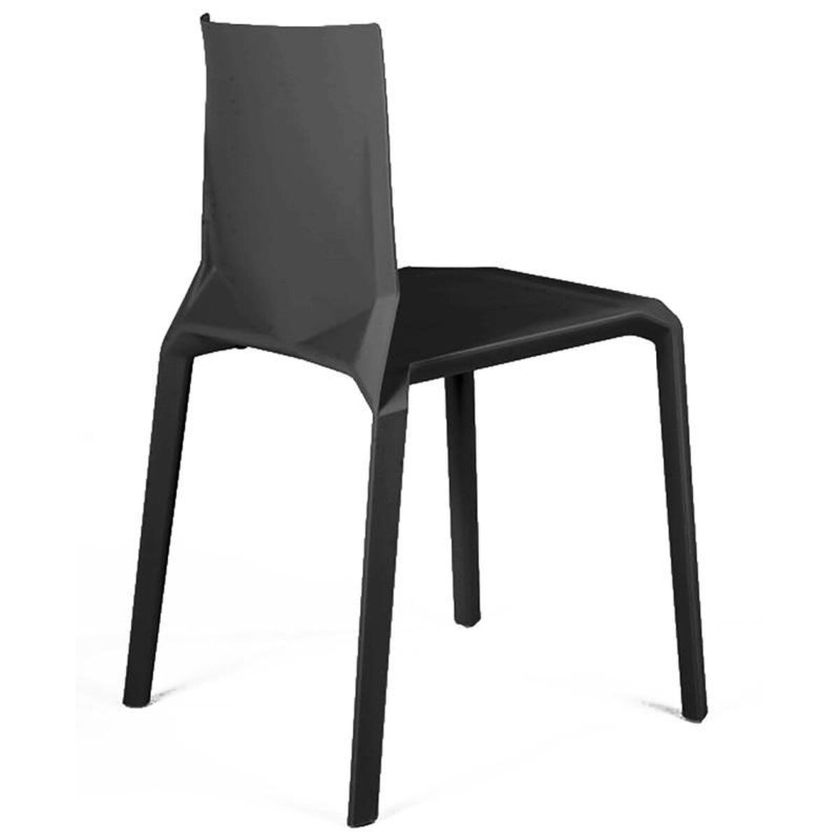 Set Of 4 Black Stack Side Chairs Ls 9602 Blk Bizchair Com
