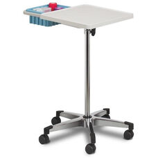 Mobile Phlebotomy Work Station with ABS Plastic Top and Drop In Bin