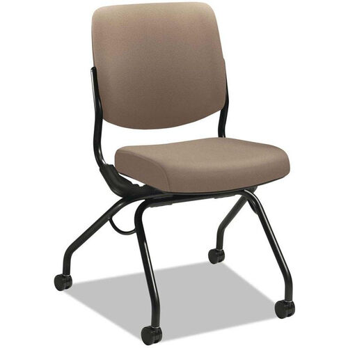 Our HON® Perpetual Series Mobile Nesting Armless Chair with Upholstered Back and Seat - Morel is on sale now.