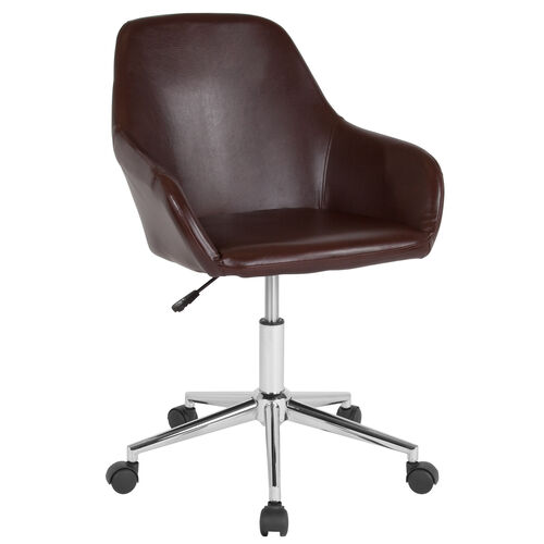 Our Cortana Home and Office Mid-Back Chair in Brown Leather is on sale now.