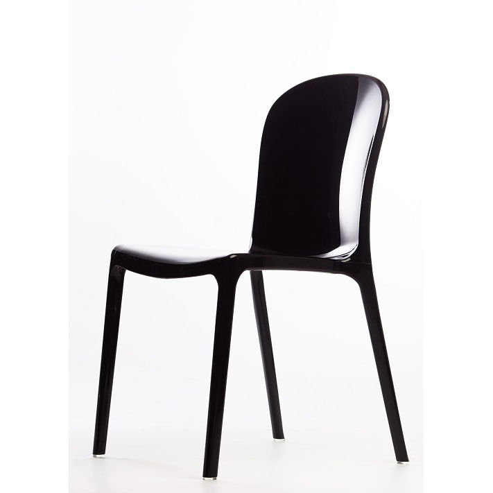 Charming Genoa Polycarbonate Dining Chair   Black