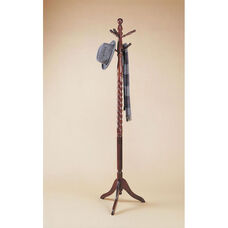 Twist Accented Coat Rack - Heirloom Cherry