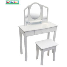 Classic White Collection Vanity and Stool