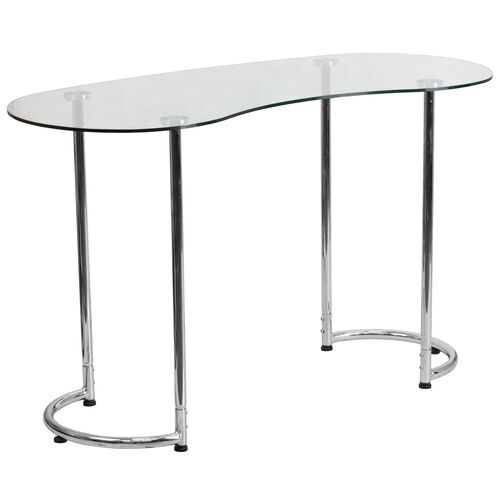 Our Contemporary Desk with Curvaceous Clear Tempered Glass is on sale now.
