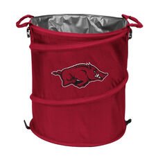 University of Arkansas Team Logo Collapsible 3-in-1 Cooler Hamper Wastebasket
