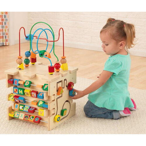 Our Early Childhood Development Wooden Colorful Deluxe Activity Cube is on sale now.