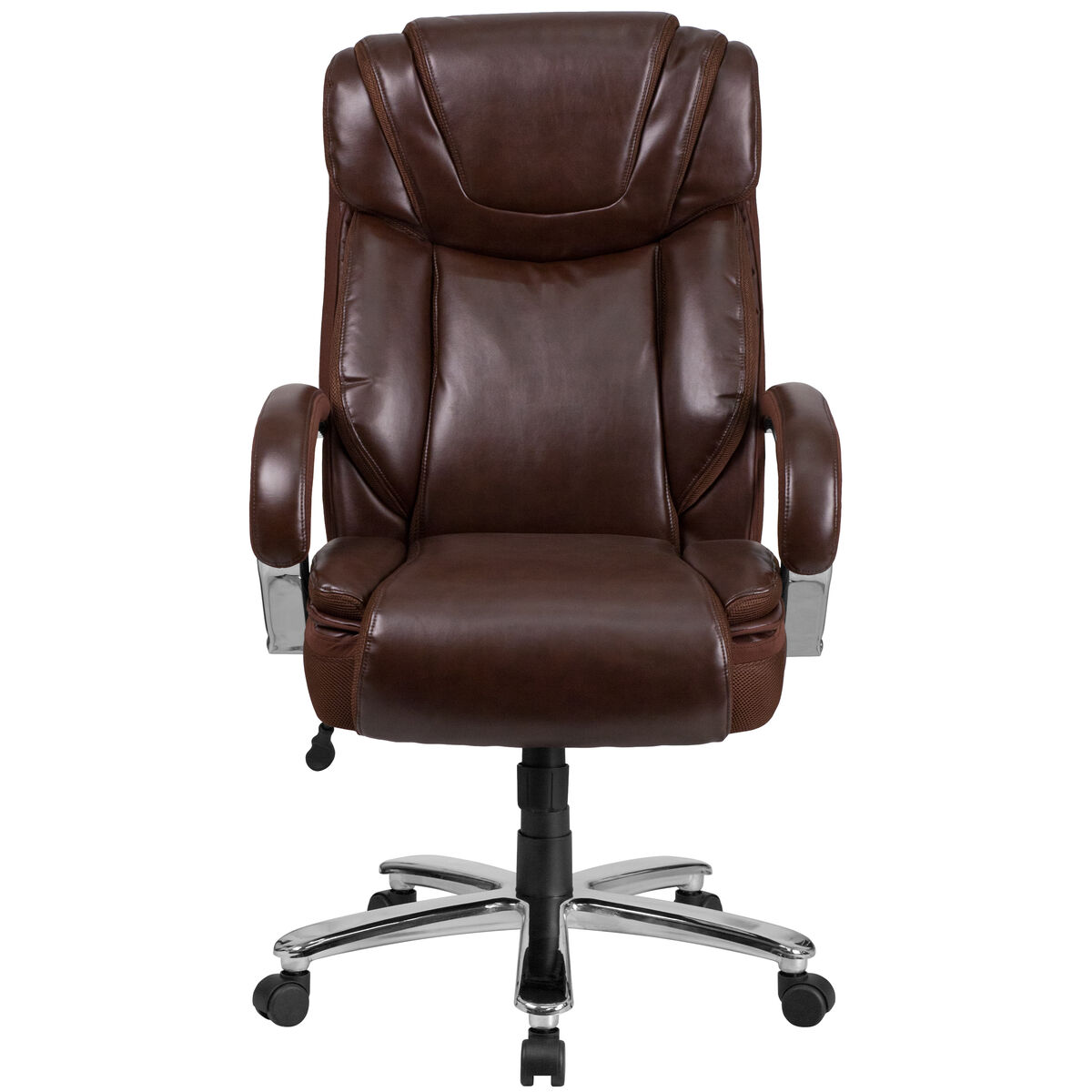 large brown leather chair brown 500lb high back chair go 2092m 1 bn gg bizchair com 16352 | FLASH FURNITURE GO 2092M 1 BN GG INSET3
